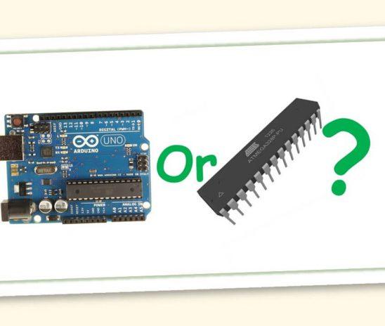 Microcontroller inside controller board outside!